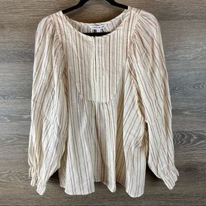 Elizabeth and James cotton smock blouse NWT